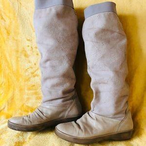 Diesel Vintage Distressed Genuine Leather Boots